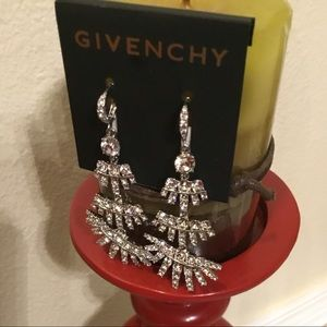 NEW 3 TIERS GIVENCHY  CHANDELIER SILVER EARRINGS
